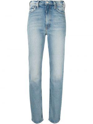 Синие с завышенной талией прямые джинсы Mother