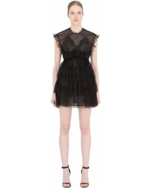 Платье мини на молнии ажурное Francesco Scognamiglio