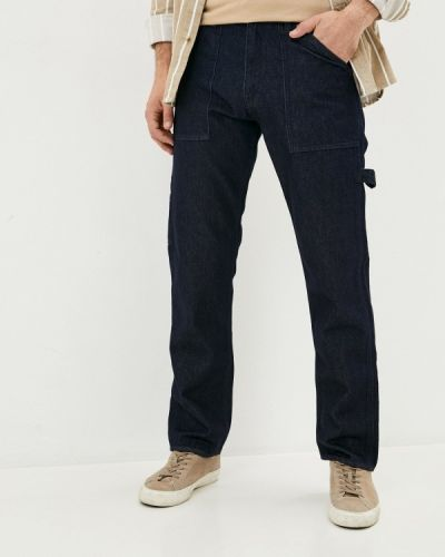 Синие прямые прямые джинсы Rifle
