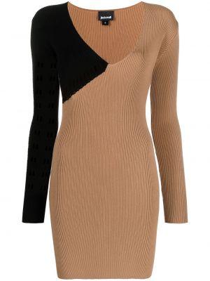 С рукавами облегающее трикотажное платье макси Just Cavalli