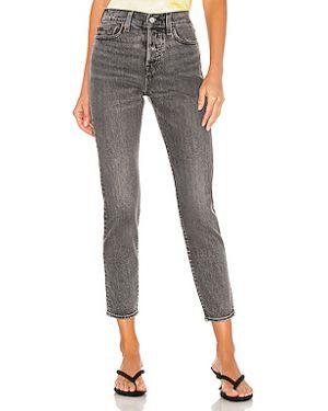 Прямые хлопковые прямые джинсы с карманами на пуговицах Levi's®