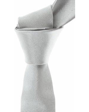 Krawat srebrny - czerwony Frankie Morello