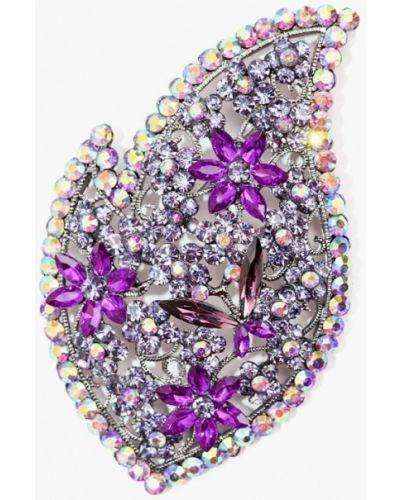 Брошь фиолетовый серебряный Patricia Bruni