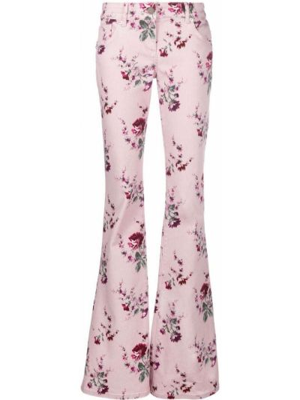 Розовые джинсы клеш расклешенные Blumarine