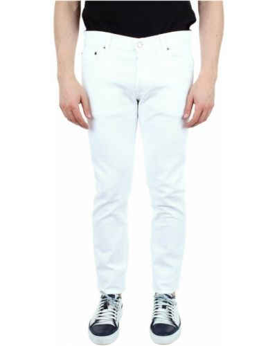 Białe mom jeans Aglini