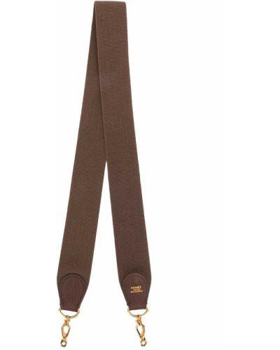 Коричневый кожаный ремень винтажный Hermès