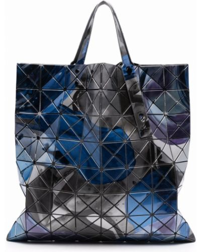 Niebieska torebka z printem Bao Bao Issey Miyake