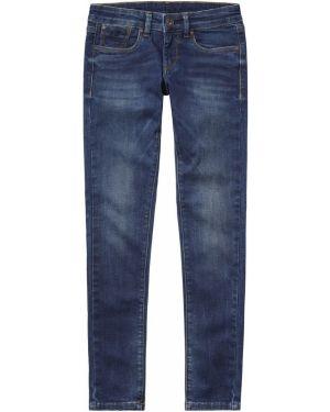 Синие джинсы с поясом Pepe Jeans
