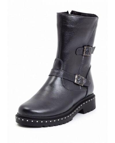 Кожаные ботинки осенние на каблуке Stormania