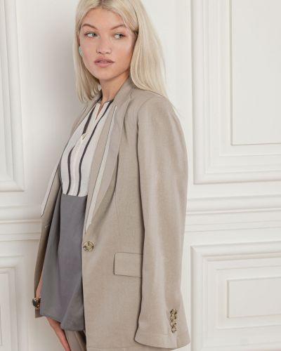 Льняной пиджак - бежевый Dolcedonna