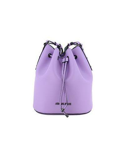 Фиолетовая кожаный сумка Armani Jeans