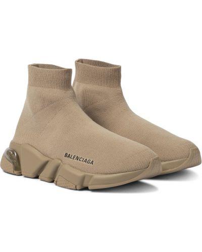 Текстильные бежевые кроссовки Balenciaga