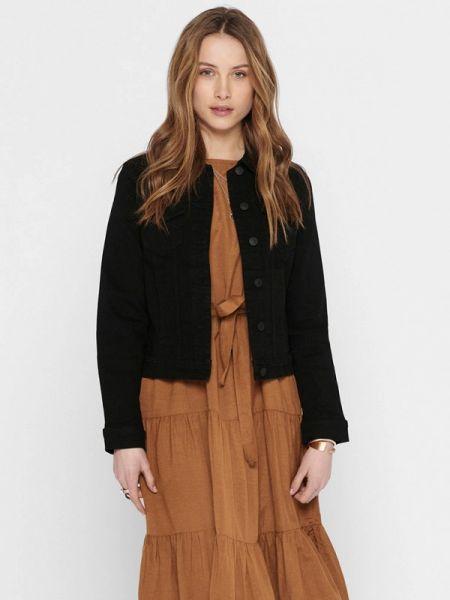 Джинсовая куртка черная весенняя Only