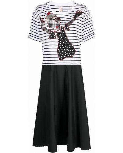 Czarna sukienka mini krótki rękaw bawełniana Antonio Marras