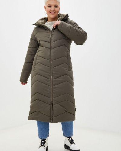 Утепленная куртка хаки Jack Wolfskin