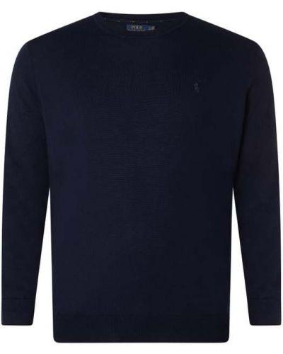 Sweter wełniany - niebieski Polo Ralph Lauren Big & Tall