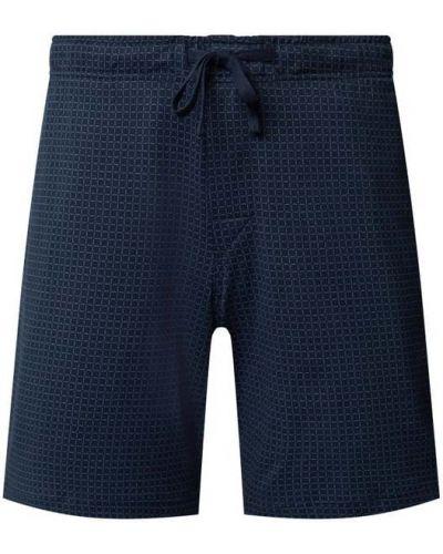 Niebieskie szorty bawełniane Schiesser