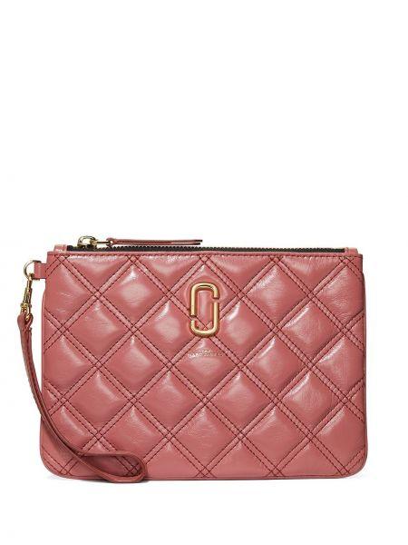 С ремешком розовый клатч на молнии Marc Jacobs