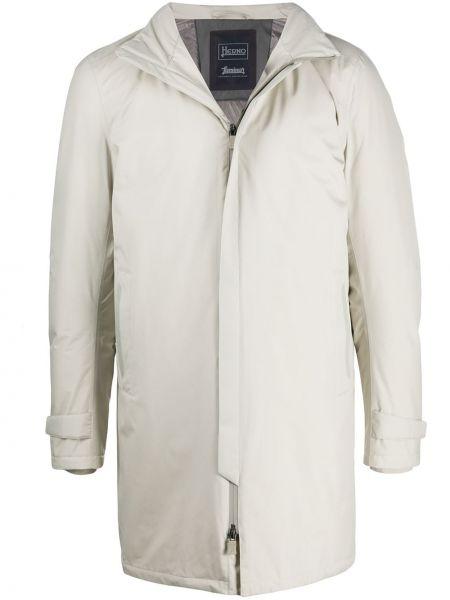 Klasyczny puchaty klasyczny płaszcz z kapturem z gęsim puchem Herno