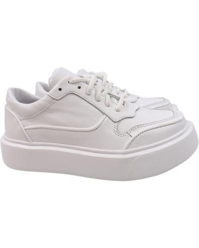 Кожаные кроссовки - белые Masheros