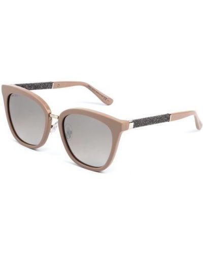 Бежевые солнцезащитные очки Jimmy Choo