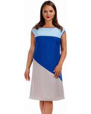 Летнее платье серое на молнии Liza Fashion
