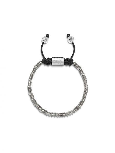 Серебряный браслет с бисером свободного кроя Nialaya Jewelry