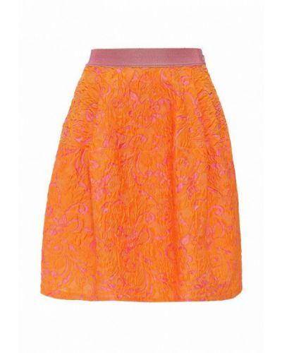 Оранжевая юбка широкая Pinko