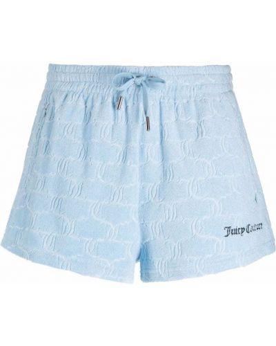 Синие шорты из полиэстера Juicy Couture