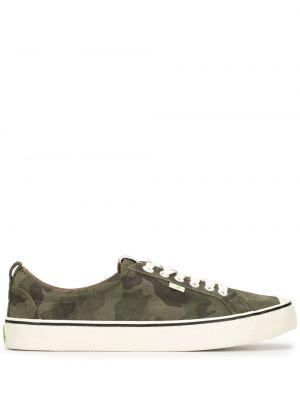 Zielone sneakersy sznurowane koronkowe Cariuma