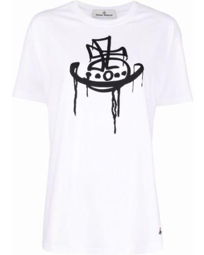 Белая футболка с длинными рукавами Vivienne Westwood