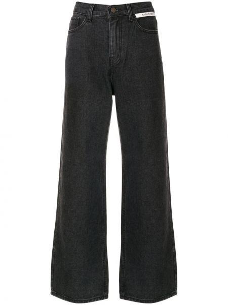 Черные джинсы на пуговицах с поясом Kimhekim