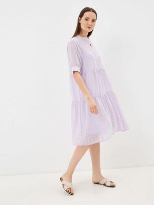 Прямое фиолетовое платье А-силуэта Ichi