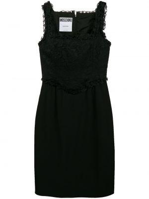 Ажурное платье винтажное без рукавов с вырезом Moschino Pre-owned