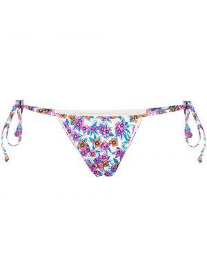 Белые плавки бикини с завязками с низкой посадкой Frankie's Bikinis