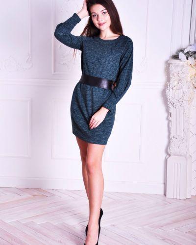 Платье с поясом с люрексом шерстяное Lovitton