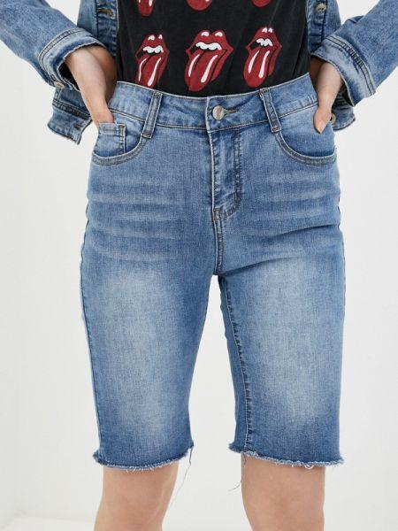 Джинсовые шорты со стразами G&g