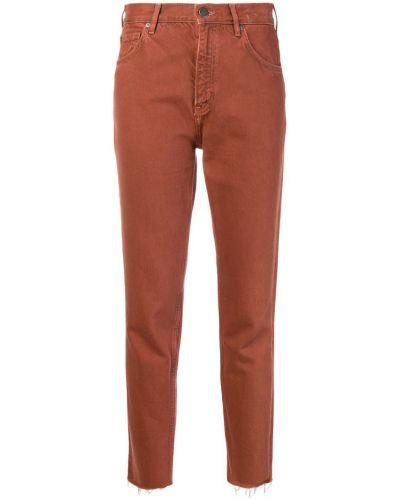 Джинсовые зауженные джинсы - красные Mih Jeans
