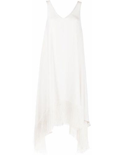 Платье миди с бахромой с вырезом без рукавов P.a.r.o.s.h.