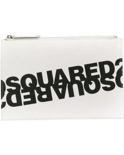 Czarna kopertówka z printem skórzana Dsquared2