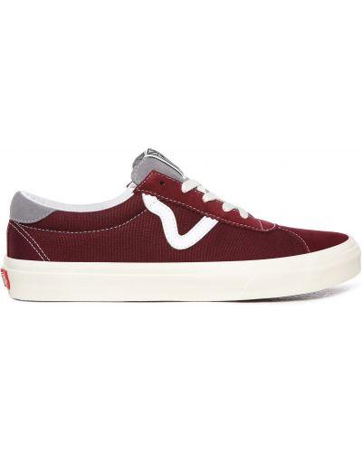 Красные кеды на шнуровке винтажные Vans