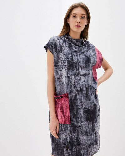 Платье серое прямое Alezzy Liriq