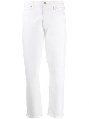 Прямые джинсы белые на пуговицах Citizens Of Humanity