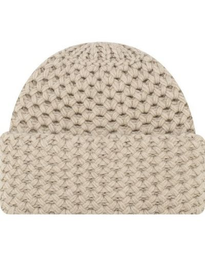 Бежевая вязаная шапка Inverni