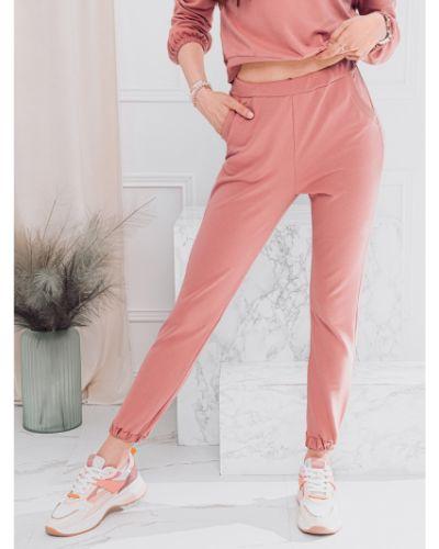 Różowe joggery bawełniane Edoti