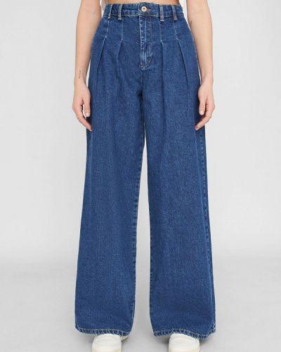Расклешенные синие широкие джинсы Noisy May