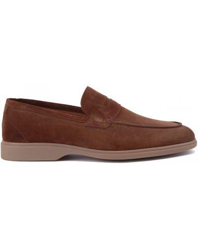 Коричневые кожаные туфли закрытые Stemar
