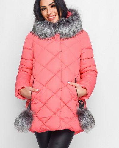 Утепленная куртка весенняя красная Carica&x-woyz