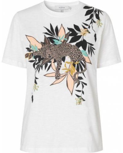 Biały t-shirt Munthe
