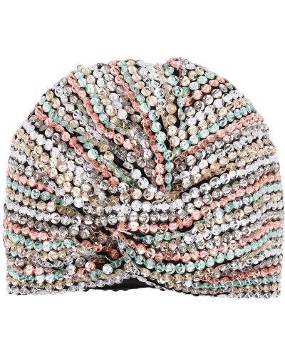 Srebro turban z wiskozy Maryjane Claverol